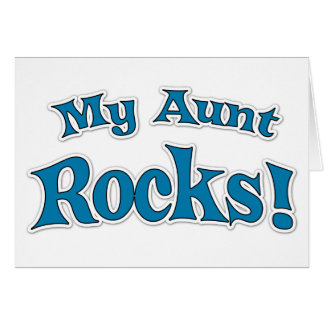 ¡Mi tía Rocks! Tarjeta De Felicitación