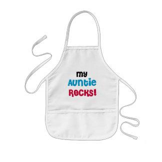 Mi tía Rocks Tshirts y regalos Delantal Infantil