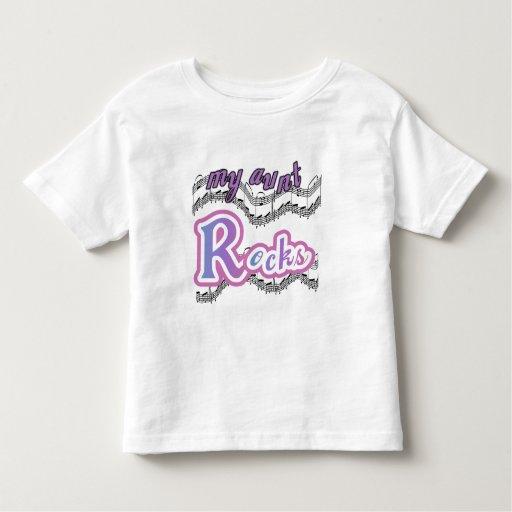 Mi tía Rocks Tshirts y regalos Playeras