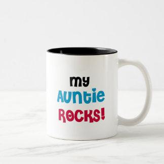 Mi tía Rocks Tshirts y regalos Taza Dos Tonos