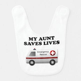 Mi tía Saves Lives Ambulance Baberos Para Bebé