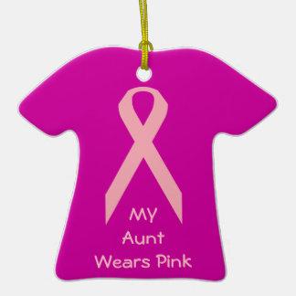 Mi tía Wears Pink Adornos