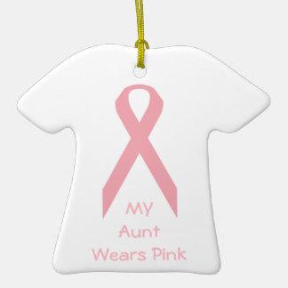 Mi tía Wears Pink Adorno De Navidad