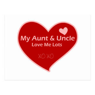 Mi tía y tío Love Me Postales
