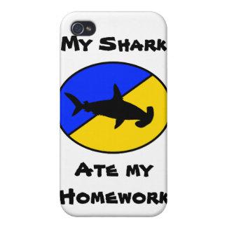 ¡Mi tiburón comió mi preparación! iPhone 4 Carcasas