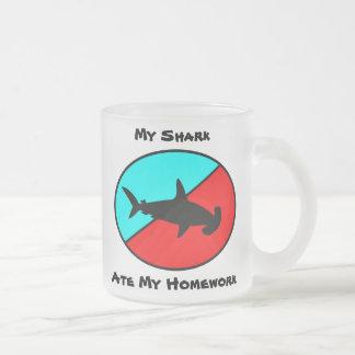 ¡Mi tiburón comió mi preparación! Taza De Cristal
