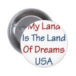 Mi tierra es la tierra de los sueños los E.E.U.U. Pins
