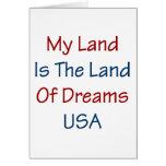 Mi tierra es la tierra de los sueños los E.E.U.U. Tarjeta