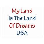 Mi tierra es la tierra de los sueños los E.E.U.U. Postal