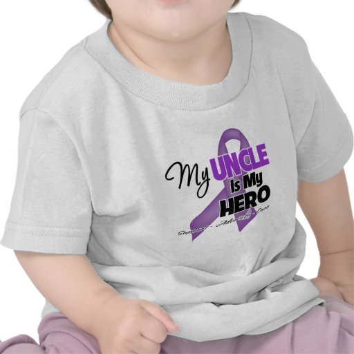 Mi tío es mi héroe - cinta púrpura camisetas