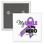 Mi tío es mi héroe - cinta púrpura pin
