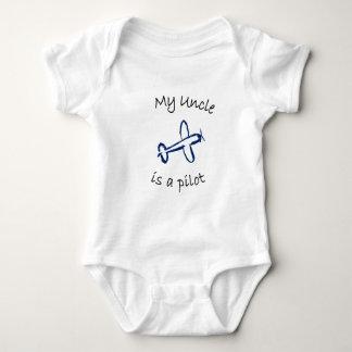 Mi tío es piloto body para bebé