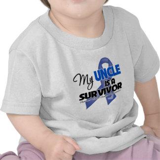 Mi tío es un superviviente - cáncer de colon camisetas