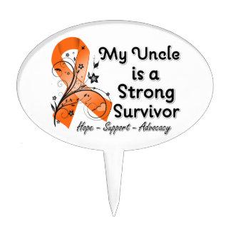 Mi tío es una cinta fuerte del naranja del supervi decoración de tarta