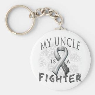 Mi tío Is A Fighter Grey Llavero Redondo Tipo Pin