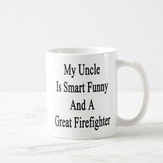 Mi tío Is Smart Funny y gran bombero Taza Clásica