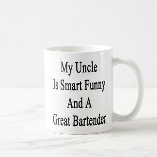 Mi tío Is Smart Funny y gran camarero Taza Clásica
