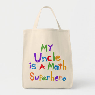 Mi tío Math Superhero T-shirts y regalos Bolsa