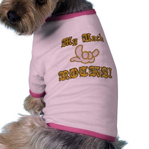 Mi tío Rocks Camiseta Con Mangas Para Perro