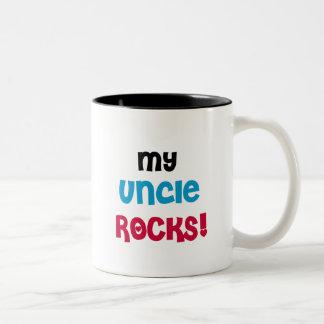 Mi tío Rocks T-shirts y regalos Taza Dos Tonos