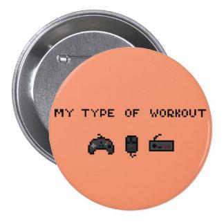 Mi tipo de botón retro del entrenamiento pin redondo de 3 pulgadas