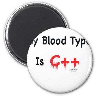Mi tipo de sangre es c++ imán redondo 5 cm