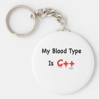 Mi tipo de sangre es c++ llavero redondo tipo pin