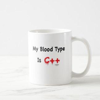 Mi tipo de sangre es c++ taza
