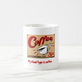 ¡Mi tipo de sangre es café! Taza Básica Blanca