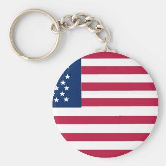 Mi toma en la bandera americana llaveros