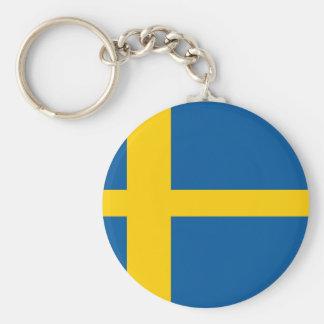 Mi toma en llavero de la bandera de Suecia