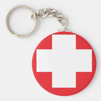 Mi toma en llavero de la bandera de Suiza