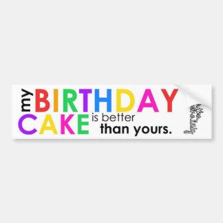 mi torta de cumpleaños es mejor que la suya pegati pegatina para auto