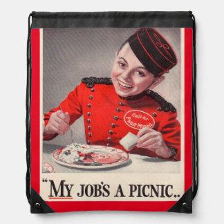 Mi trabajo es una comida campestre - pequeño mochilas