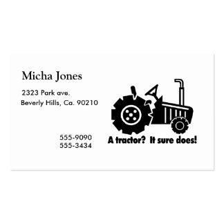 Mi tractor es un imán del polluelo tarjetas de visita