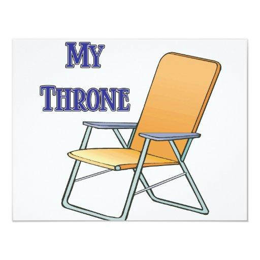 """Mi trono invitación 4.25"""" x 5.5"""""""