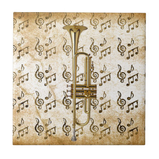 Mi Trumpet_ Azulejo Cuadrado Pequeño