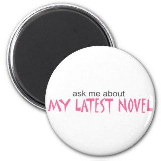Mi última novela imán redondo 5 cm