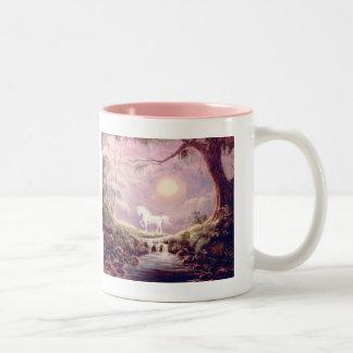Mi unicornio brumoso taza de café de dos colores