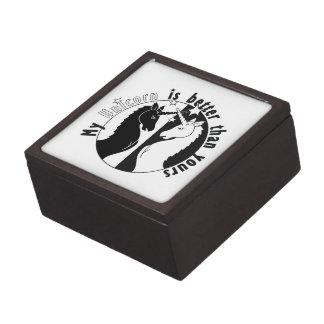 Mi unicornio es mejor caja de regalo de calidad