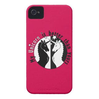 Mi unicornio es mejor iPhone 4 Case-Mate protectores