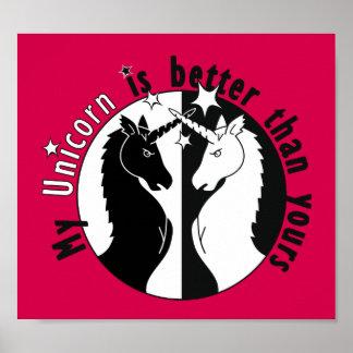 Mi unicornio es mejor posters
