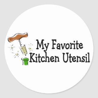 Mi utensilio preferido de la cocina pegatina redonda
