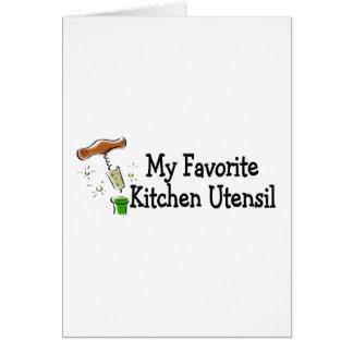 Mi utensilio preferido de la cocina tarjeta de felicitación