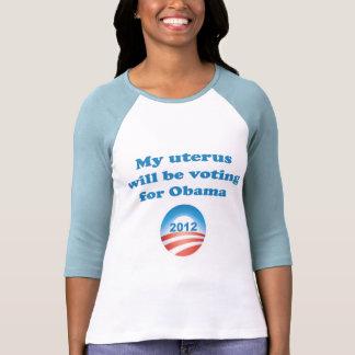 Mi útero votará por Obama Camisetas
