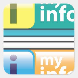 Mi vector del botón del Info Pegatina Cuadrada