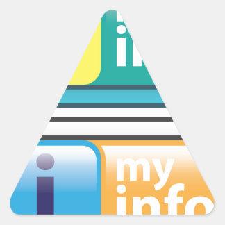 Mi vector del botón del Info Pegatina Triangular