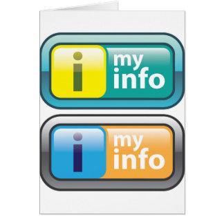 Mi vector del botón del Info Tarjeta De Felicitación