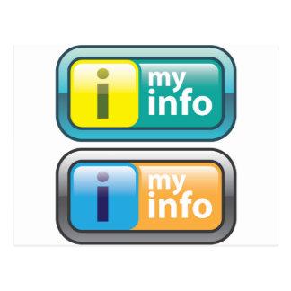 Mi vector del botón del Info Tarjeta Postal