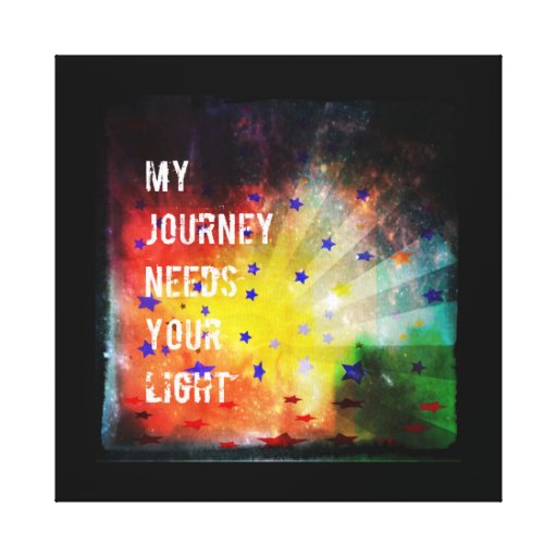 Mi viaje necesita su luz impresión en lienzo